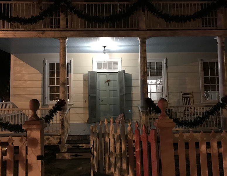 Josiah Bayly House at Christmas - Cambridge MD