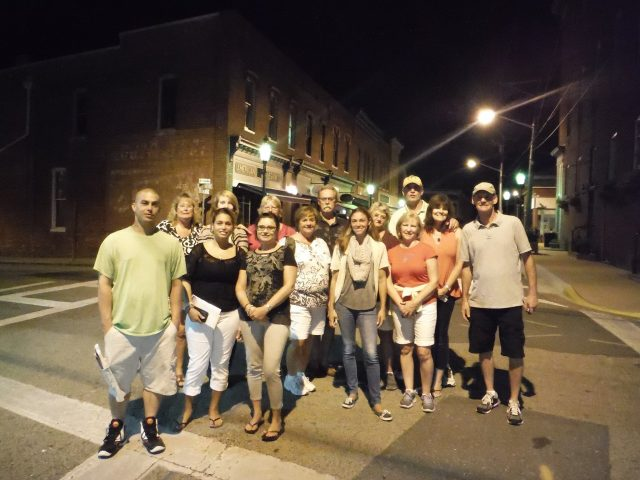 Guests on the Snow Hill Ghost Tour