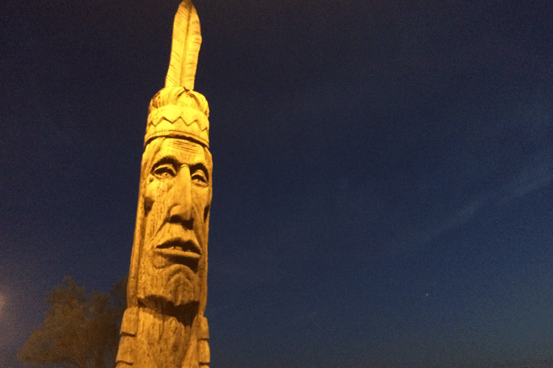 assateague indian sculpted by Peter Toth